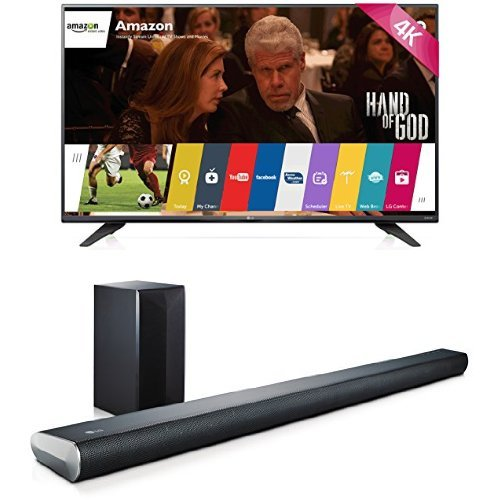 LG Electronics 65UF7700 65-Inch TV With LAS551H Sound Bar
