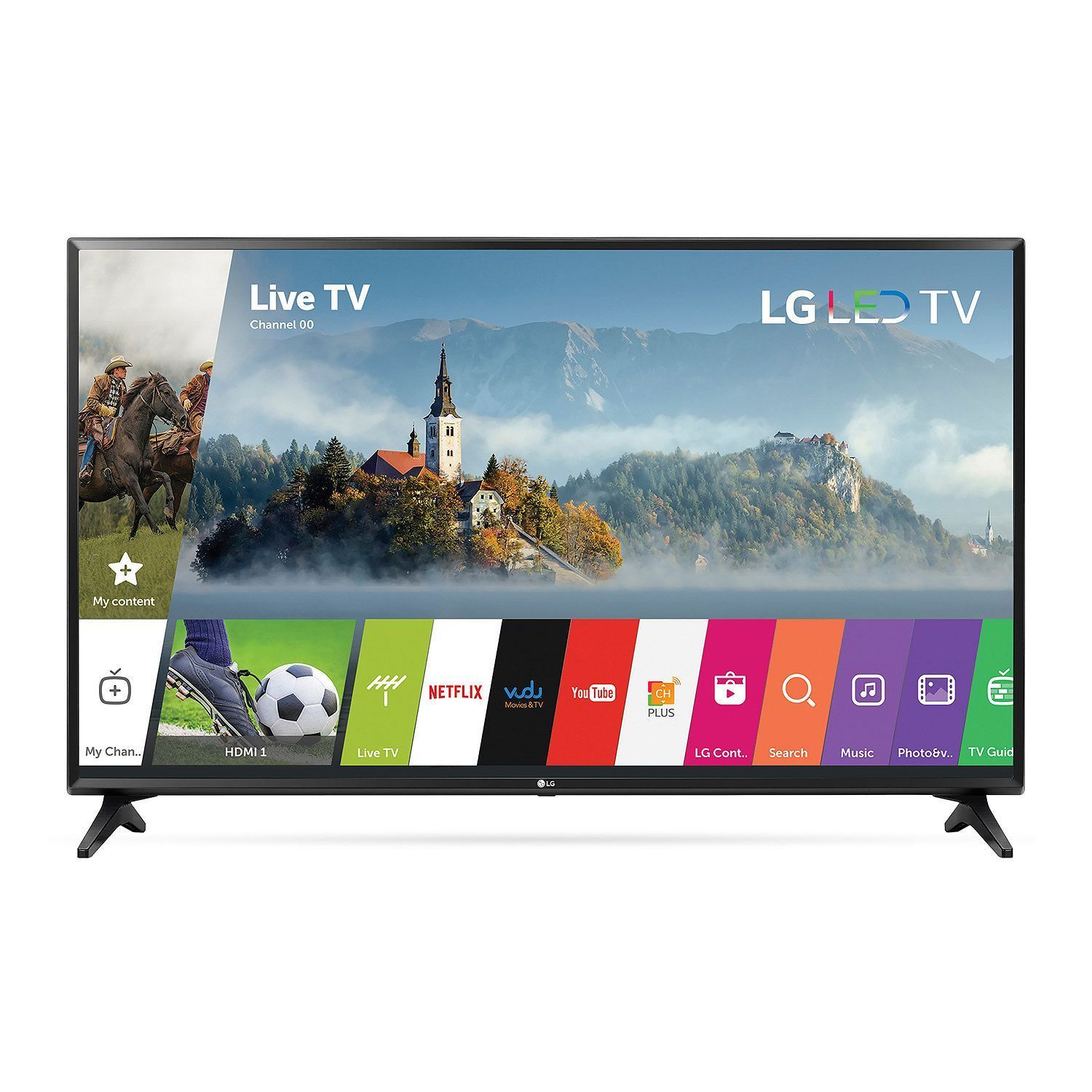 LG 43″ CLASS 4K SMART LED TV (43UJ6300) (2160P